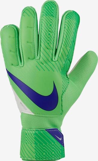 NIKE Handschuhe in dunkelblau / grün, Produktansicht