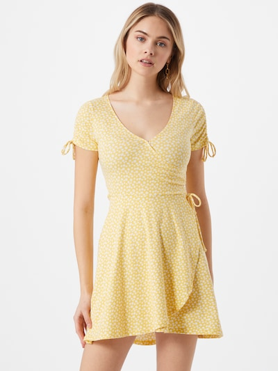 HOLLISTER Summer dress in yellow / white, View model