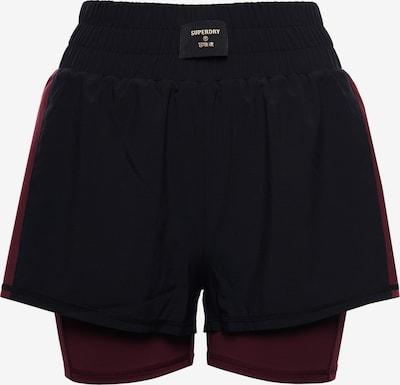 Superdry Sportbroek in de kleur Bordeaux / Zwart, Productweergave