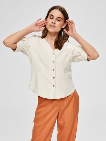 SELECTED FEMME Blouse in White