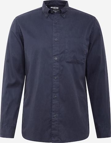 SELECTED HOMME Triiksärk 'REGRICK', värv sinine