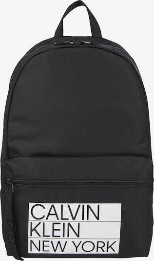 Calvin Klein Раница в черно / бяло, Преглед на продукта
