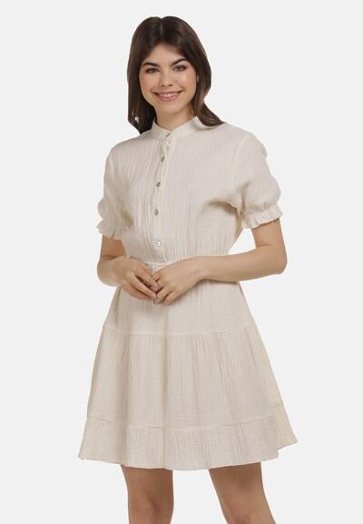MYMO Volantkleid in weiß, Modelansicht