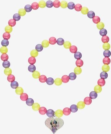 Bijou 'Kette und Armband' Six en mélange de couleurs