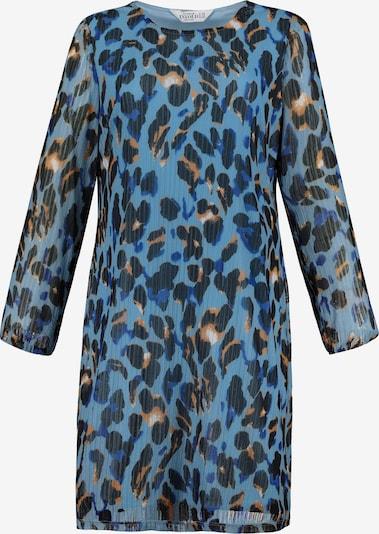 Studio Untold Kleid in hellblau / orange / schwarz / weiß: Frontalansicht