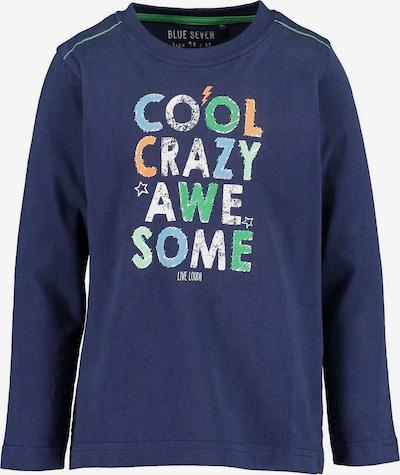 BLUE SEVEN Shirt in marine / grün / orange / weiß, Produktansicht