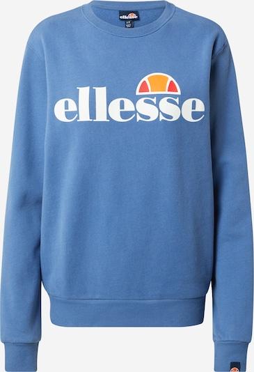ELLESSE Sweatshirt 'Agata' in de kleur Blauw / Sinaasappel / Oranjerood / Wit, Productweergave
