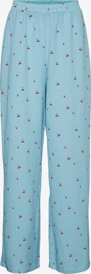VERO MODA Broek 'Lolly' in de kleur Lichtblauw / Lichtgroen / Rood, Productweergave