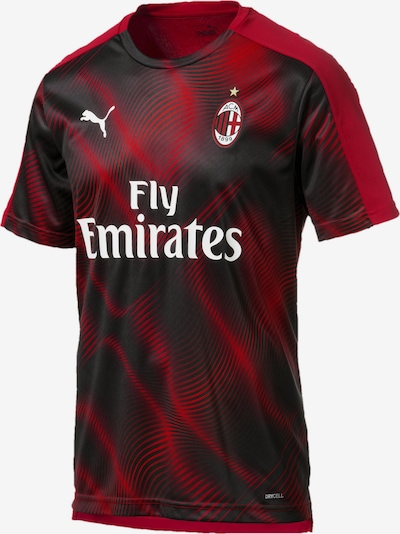 PUMA Trikot 'AC Milan' in rot / schwarz / weiß, Produktansicht