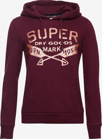Superdry Sweatshirt in burgunder, Produktansicht