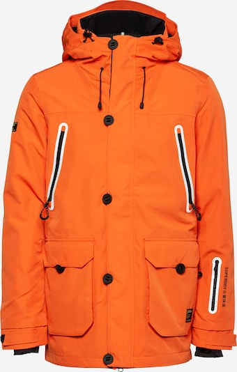 Superdry Snow Sportjas 'FREESTYLE' in de kleur Sinaasappel / Zwart, Productweergave