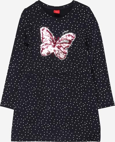 s.Oliver Junior Kleid in dunkelblau / pink / weiß, Produktansicht