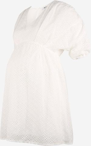 Missguided Maternity Kleit 'Broderie', värv valge