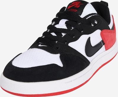 Nike Sportswear Sneaker 'ALLEYOOP' in rot / schwarz / weiß, Produktansicht
