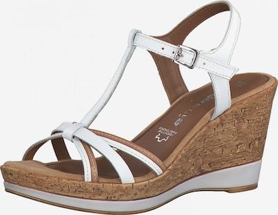 TAMARIS Strap sandal in Brocade / White, Item view