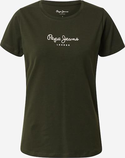 Pepe Jeans T-Shirt 'New Virginia' in dunkelgrün / weiß, Produktansicht