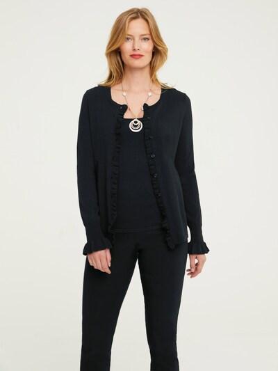 heine Strickjacke 'Twinset' in schwarz, Modelansicht