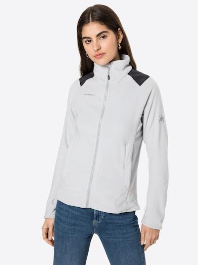 Jachetă  fleece funcțională MAMMUT pe gri deschis / negru: Privire frontală