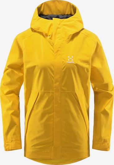 Haglöfs Outdoorjas 'Tjärn' in de kleur Geel / Wit, Productweergave