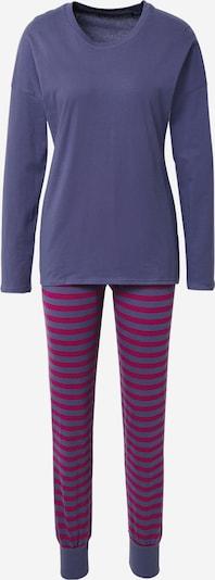 SCHIESSER Pyjama in violettblau / dunkelpink, Produktansicht