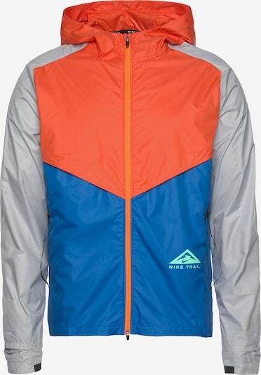 NIKE Laufjacke in blau / hellgrau / orange, Produktansicht