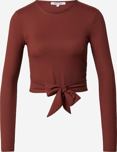 ABOUT YOU Shirt 'Madita' in rostbraun, Produktansicht