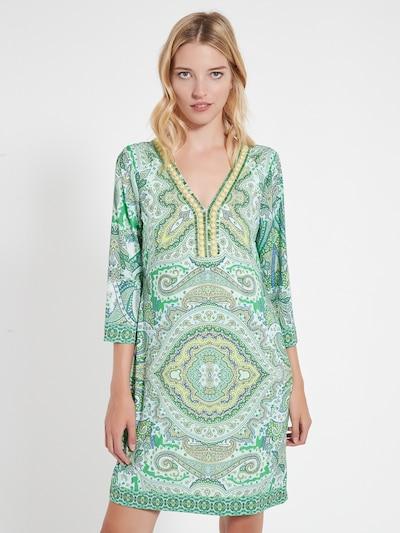 Ana Alcazar Kleid 'Cela' in gelb / grün, Modelansicht