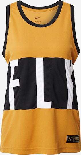NIKE Sportovní top - tmavě žlutá / černá / bílá, Produkt