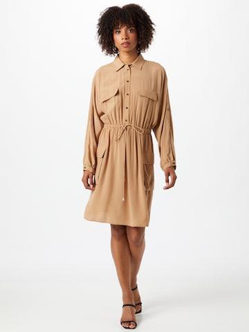 smėlio HUGO Palaidinės tipo suknelė 'Kesaka'