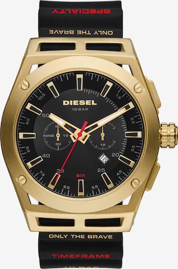DIESEL Uhr in gold / schwarz, Produktansicht