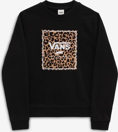 VANS Sweat-shirt 'GR LEOPARD BOX CREW' en marron / noir / blanc, Vue avec produit