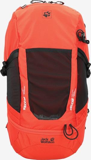 JACK WOLFSKIN Rucksack in orangerot / schwarz, Produktansicht