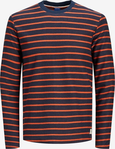 JACK & JONES Sweatshirt in navy / braun, Produktansicht
