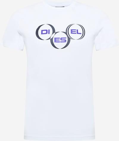 DIESEL Тениска 'DIEGOS' в морскосиньо / черно / бяло: Изглед отпред