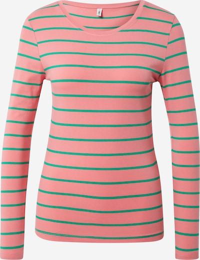 ONLY Shirt 'Fifi' in grün / altrosa, Produktansicht