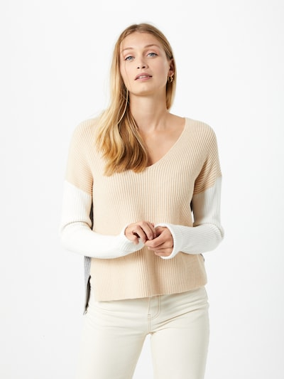 ONLY Sweater in beige / grey / white, View model