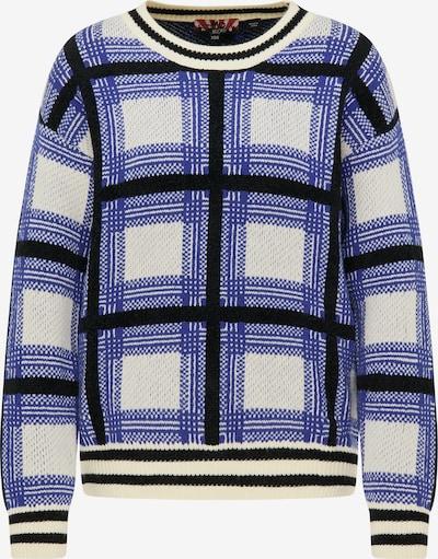 myMo ROCKS Pullover in blau / gelb / schwarz / weiß, Produktansicht