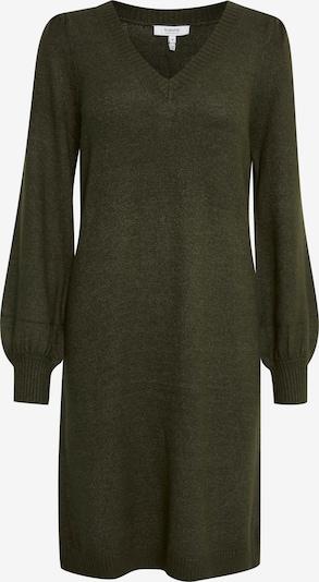 b.young Strickkleid 'BYMILO' in dunkelgrün, Produktansicht