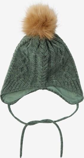 NAME IT Mütze in hellbraun / grün, Produktansicht