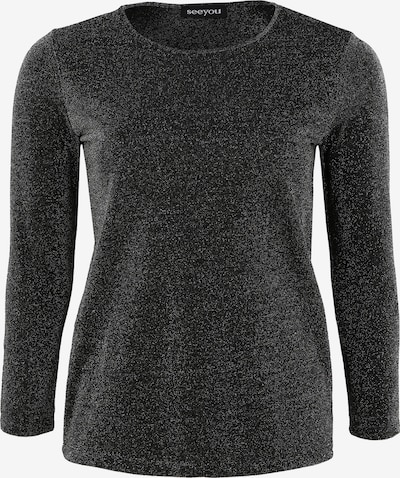 seeyou Shirt 'mit Rundhalsausschnitt' in de kleur Zwart, Productweergave