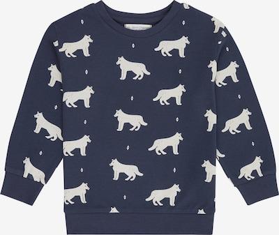 Sense Organics Sweater majica 'BENGO' u mornarsko plava / bijela, Pregled proizvoda
