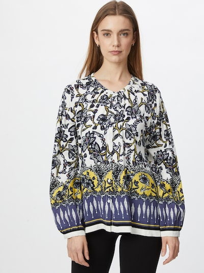 Masai Bluse 'Ivy' in blau / gelb / schwarz / weiß, Modelansicht