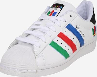 Sportbačiai be auliuko 'SUPERSTAR' iš ADIDAS ORIGINALS , spalva - mėlyna / žalia / raudona / juoda / balta, Prekių apžvalga