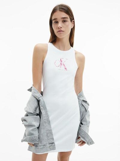 Calvin Klein Jeans Kleid in pink / weiß, Modelansicht