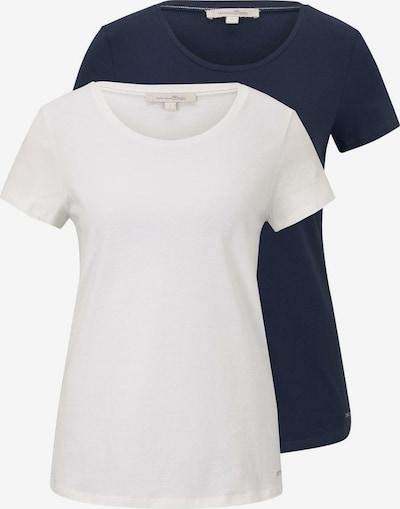 TOM TAILOR DENIM T-shirt in navy / weiß, Produktansicht