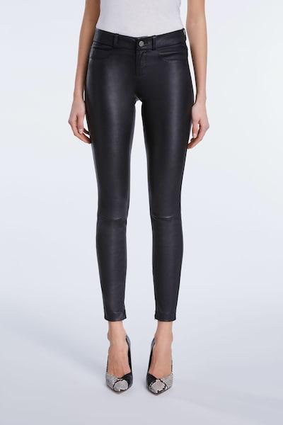 SET Lederhose in schwarz, Modelansicht