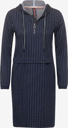 CECIL Kleid in dunkelblau / weiß, Produktansicht