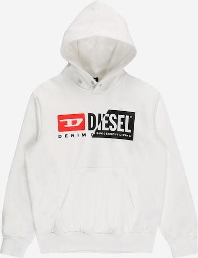 DIESEL Sweatshirt in rot / schwarz / weiß, Produktansicht