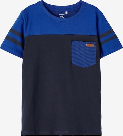 Tricou 'Lackschool' NAME IT pe albastru noapte / safir, Vizualizare produs