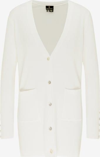 DreiMaster Klassik Strickjacke in grau / weiß, Produktansicht